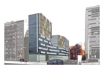 150 social housing. Gran Via. Bcn